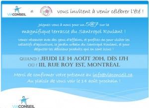 Invitation 5@7 - 14 août 2014
